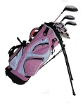 Sephlin - Lady Jayde 7 Pcs Girls Golf Club Set & Golf Bag Ages 6 - 10 Left Handed
