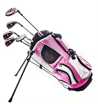 Sephlin - Lady E Girls Pink Golf Set & Golf Bag 5 Pcs Club Set Ages 3-6 & 2-5 Rh